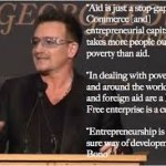 Why is what Bono said so shocking to some?