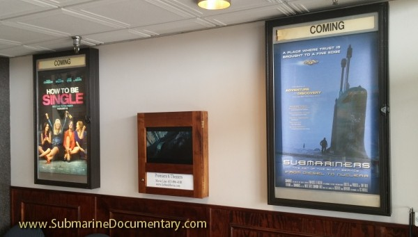 Submariners coming soon movie poster theater lobby submarine documentary