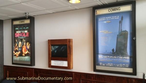 Submariners coming soon movie poster theater lobby submarine documentary