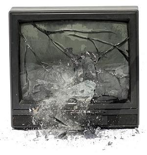 exploding tv