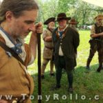 Bledsoe Colonial Fair - More Images - Divine Service - Serious Competition To Make Fire after the Shooting Match - Living History and the BEST Colonial Reenactors