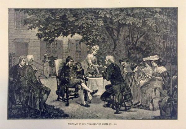 1787 Benjamin Franklin at home