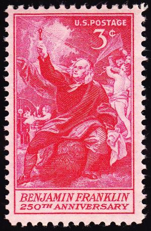 Benjamin Franklin 250th Anniversary Stamp 1956