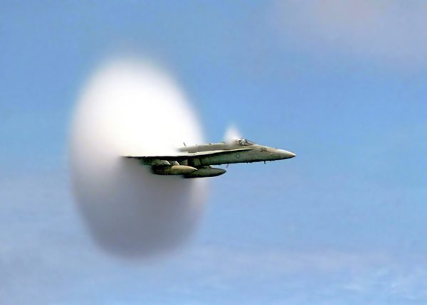 FA-18 Hornet breaking the sound barrier 7th July, 1999