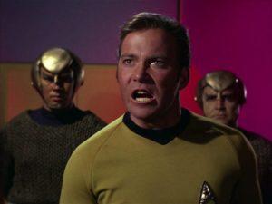 Star Trek Captain Kirk goes nuts
