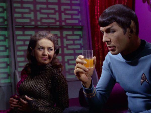 Star Trek Spock enjoys Romulan ale