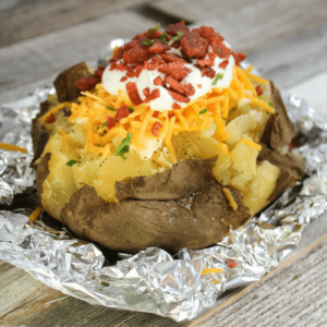 potato baked and loaded