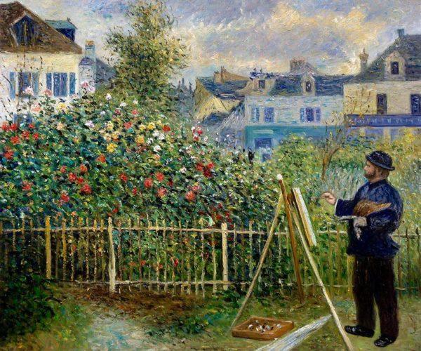 Monet Happy Birthday -  garden painting