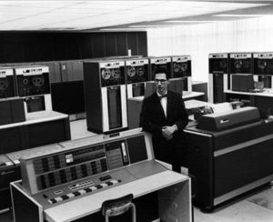 Fernando Corbato with his MIT mainframe computer